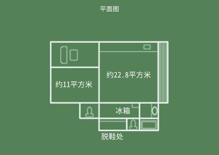 飞天馆 两间日式客房 平面图