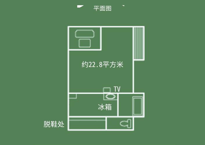 飞天馆 日式客房 平面图