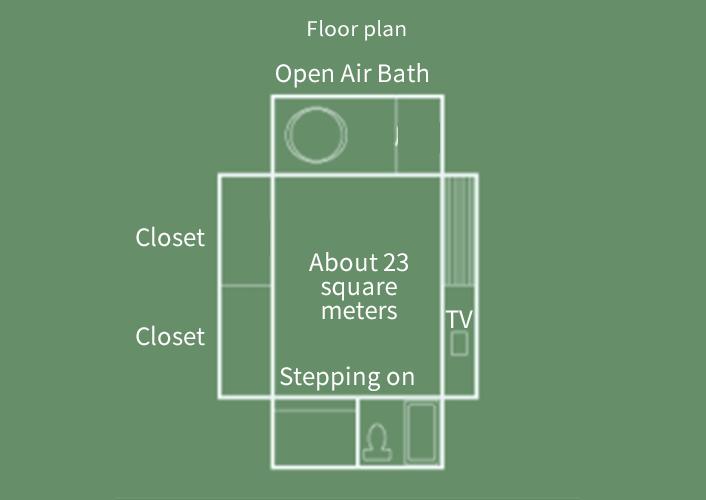 Sansui-kan  Japanese-style Room with Open Air Bath Floor Plan