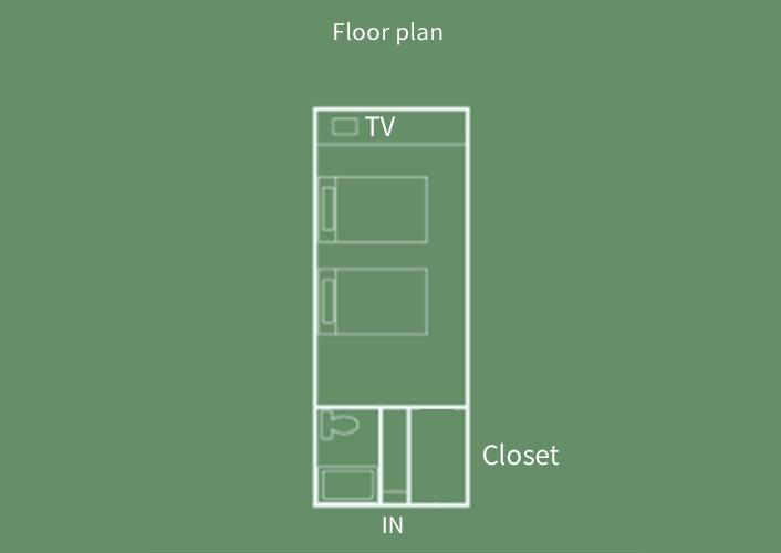 Sansui-kan  Twin Room Floor Plan