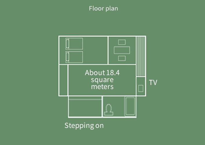 Sansui-kan  Japanese-Western style room Floor Plan