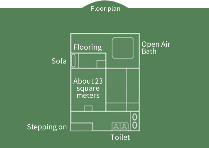 Hiten-kan  Japanese-style Room with Open Air Bath Floor Plan