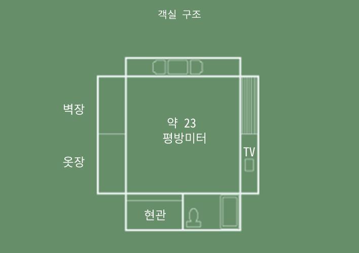 산스이칸 일본식 객실 객실 구조
