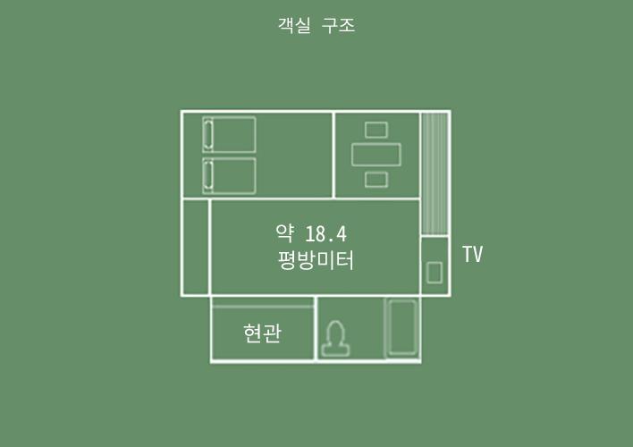 산스이칸 일본식&서양식 절충 객실 객실 구조
