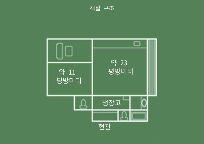 히텐칸 2칸 일본식 객실 객실 구조