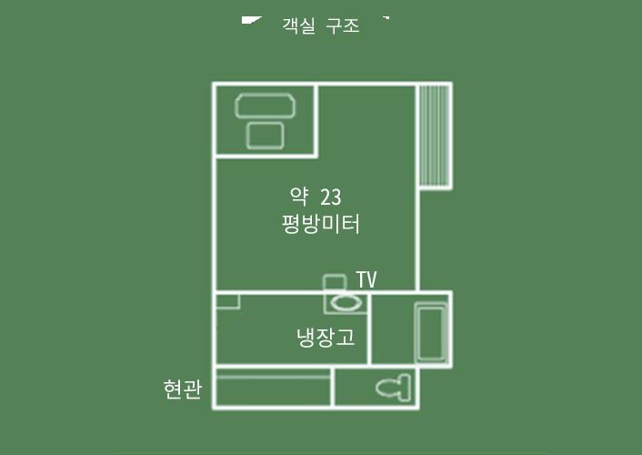 히텐칸 1칸 일본식 객실 객실 구조